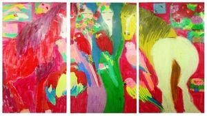 TING Walasse - Painting - horses