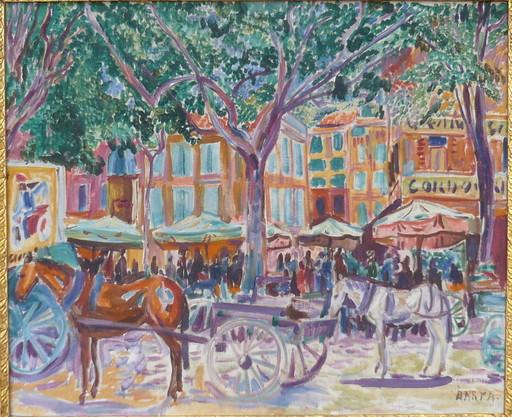 Laszlo BARTA - Gemälde - les chevaux