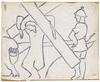 Otto FREUNDLICH - Drawing-Watercolor - Fünf Stationen zum Kreuzweg Christi