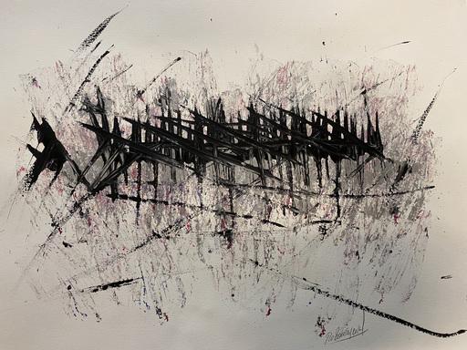 Jérémie REBOURGEARD - Gemälde - Elongations Atmospheriques