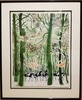 André BRASILIER - Drawing-Watercolor - Cavaliers en hiver