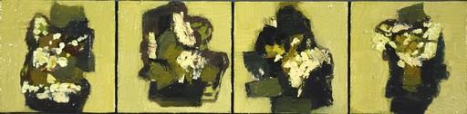 Jennifer HORNYAK - Pintura - Quattro in Cream and White