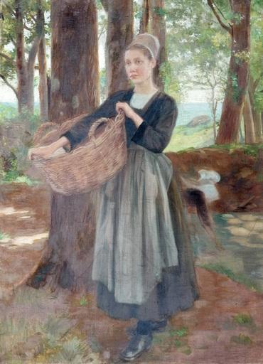 Paul GRÉGOIRE - Pintura - La lavandière