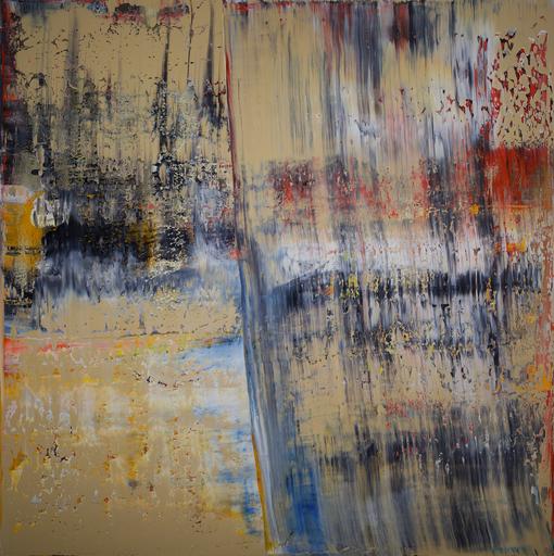 Harry James MOODY - Peinture - Abstract Beige n°477