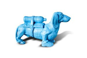 William SWEETLOVE - Estampe-Multiple - Cloned blue teckel with water bottle