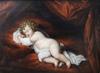 """Pittura - """"Sleeping Child"""", early 19th Century, Oil on Panel"""