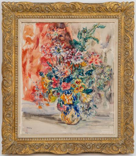 René MORERE - Peinture - Bouquet