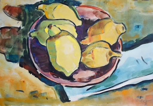 Karl SCHMIDT-ROTTLUFF - Drawing-Watercolor - Lemons | Zitronen