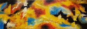 Romeo DOBROTA - Painting - Gloria victis, acrylic on canvas, 12x36 inch, SKU 1130 (1)