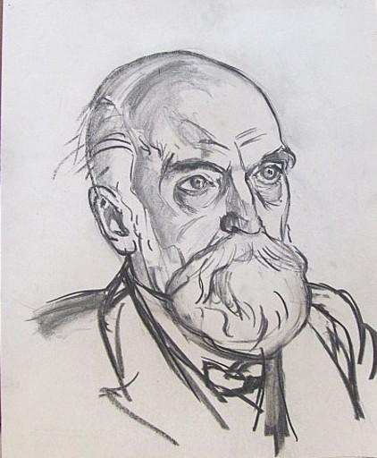 Erich HARTMANN - Disegno Acquarello - #19890: Bärtiger Mann.