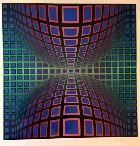 Victor VASARELY - Print-Multiple - Composition