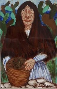 Giuseppe MIGNECO - Peinture - Vecchia contadina