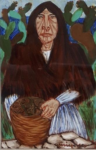 Giuseppe MIGNECO - Gemälde - Vecchia contadina