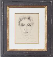 弗朗西斯·毕卡比亚 - 水彩作品 - Visage de Femme