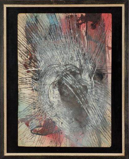 Yasuo SUMI - Peinture - Early Gutai Work Sketch 04