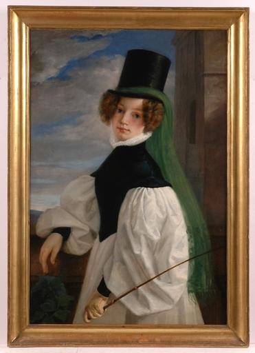 "Franz SCHROTZBERG - Peinture - ""The Emancipated"", Expertise by Boersch-Suppan"