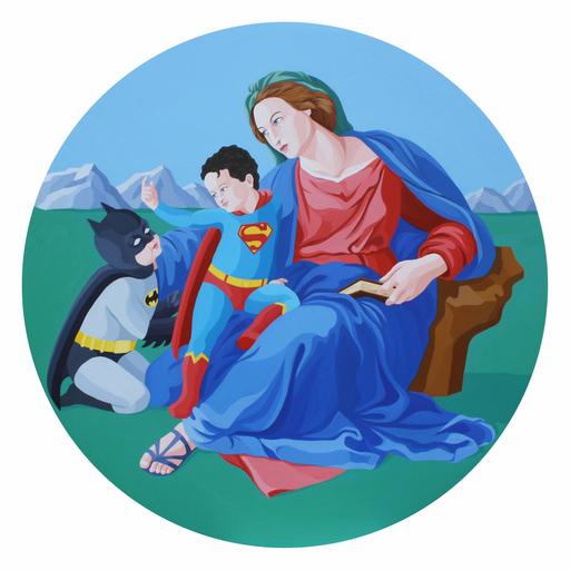 Giuseppe VENEZIANO - Gemälde - La Madonna di Krypton