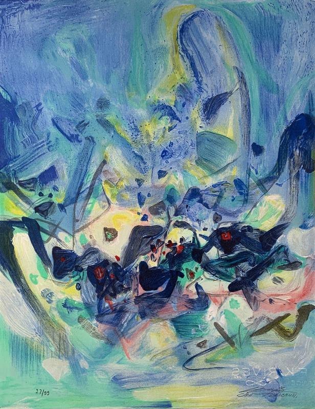 CHUANG Che - Grabado - Saison bleue