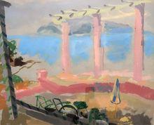 MANÉ-KATZ - Drawing-Watercolor - Beach Veranda
