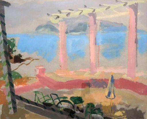 MANÉ-KATZ - Drawing-Watercolor - Beach Veranda