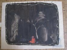 Eugène GABRITSCHEVSKY - Drawing-Watercolor - le petit chaperon rouge