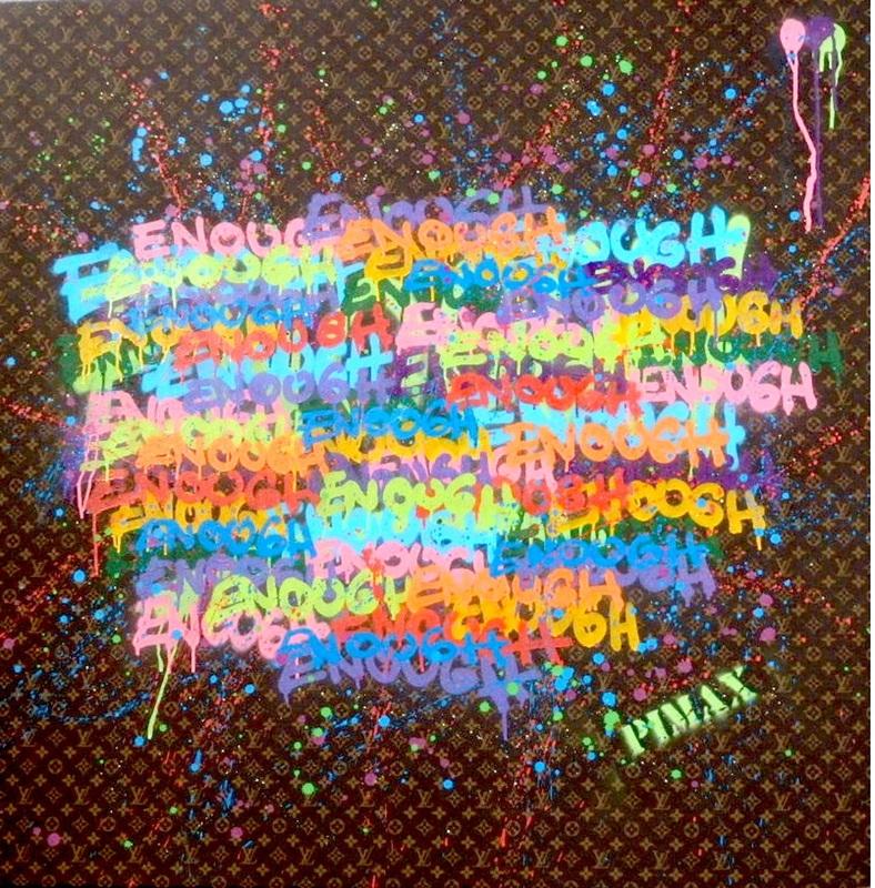 PIMAX - Painting - Enough punition (Monogramme marron), 2014