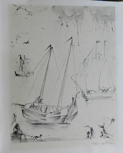 Salvador DALI - Grabado - The Fisherman