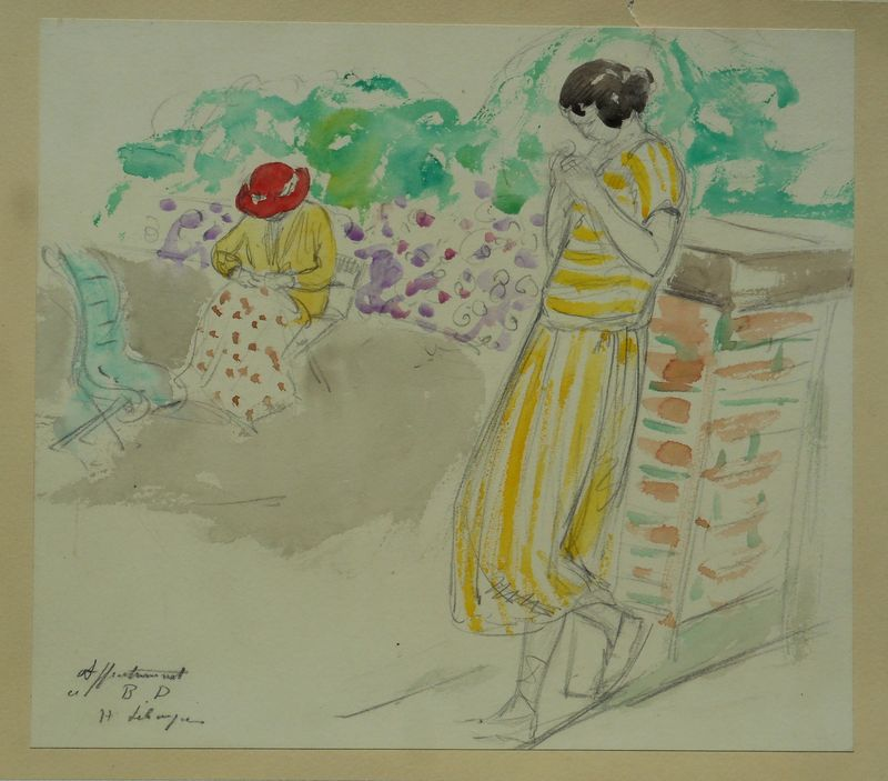 Henri Baptiste LEBASQUE - Drawing-Watercolor