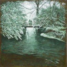 Carlos ESTEBAN - Painting - Petit pont neigé    (Cat N° 3169)