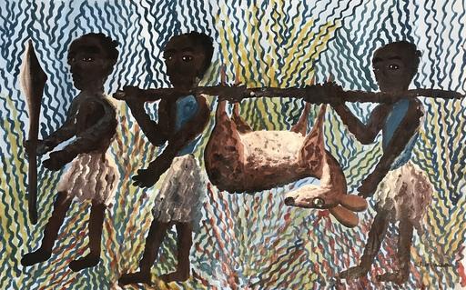 Kabinda Kunkulu VICTOR - Peinture - Retour de chasse