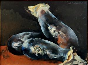 "Rodolphe Théophile BOSSHARD - Painting - ""NATURE MORTE AUX AUBERGINES"""