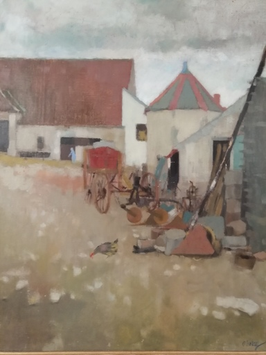 Odette DERAY - Painting - Ferme en Bourgogne