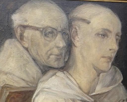 Jules Pierre VAN BIESBROECK - Pittura - Les moines complices