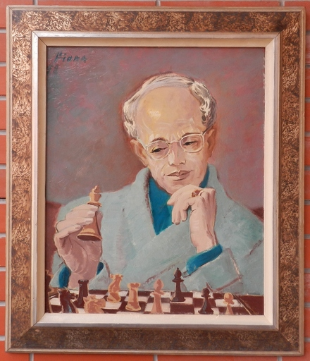 Margit FISCHER - Gemälde - Chess player