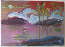 Peter MAX - Pintura - Landscape