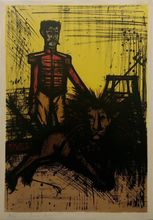 Bernard BUFFET - Estampe-Multiple - THE LION TAMER (LE DOMPTEUR)