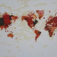 Fernando ALDAY - Painting - Boy Map