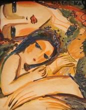 HRASARKOS - Painting - Femme à l'enfant
