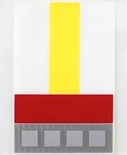 Jesús Rafael SOTO - Grabado - Composicion en Amarillo Blanco y Rojo