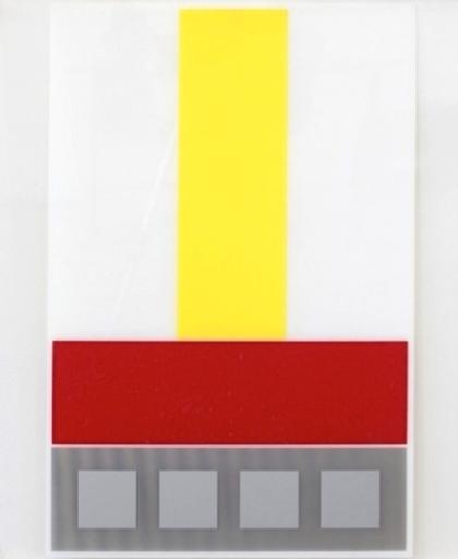 Jesús Rafael SOTO - Estampe-Multiple - Composicion en Amarillo Blanco y Rojo