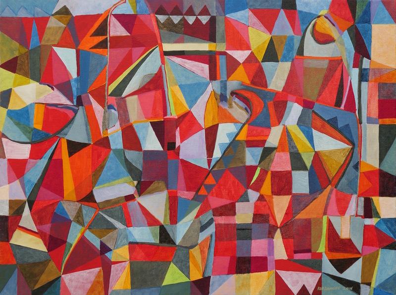 Jérémie IORDANOFF - Painting - Le jeu des serpents