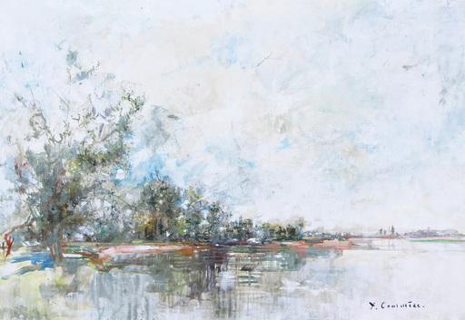 Jean COMMERE - Gemälde - La Loire vers Saint Mathurin
