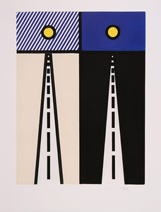 Roy LICHTENSTEIN - Print-Multiple - Auto Poesie en Cavale de Bloomington