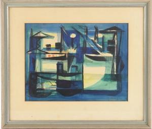 Marcel MOULY - Drawing-Watercolor - Sans titre, 1953