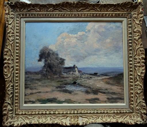 Fernand MAILLAUD - Pintura - Mare animée en Berry