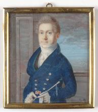 "Caroline SATTLER - Miniatura - ""Friedrich August II of Saxony in riding costume"""