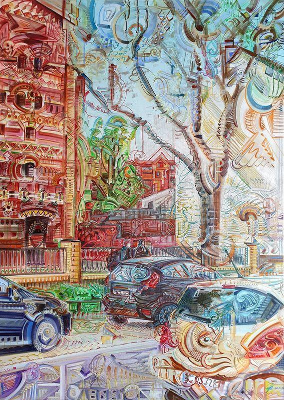 Eric HUBBES - Painting - Hospeltstraße
