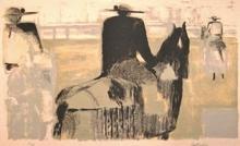 Bernard CATHELIN - Grabado - Le picador, 1957