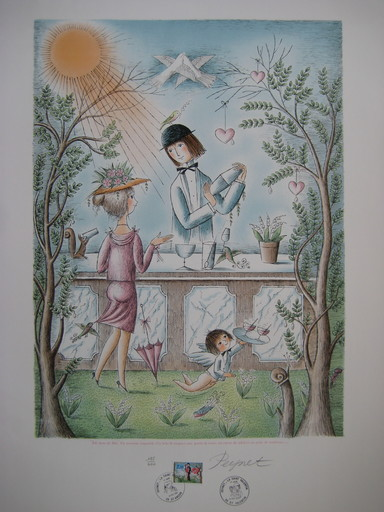 Raymond PEYNET - Stampa Multiplo - LITHOGRAPHIE SIGNÉE CRAYON NUM HANDSIGNED NUMB LITHOGRAPH