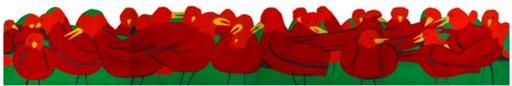 Alex KATZ - Pittura - Red Robins